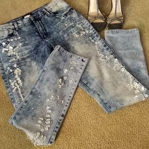 Venus embellished jeans